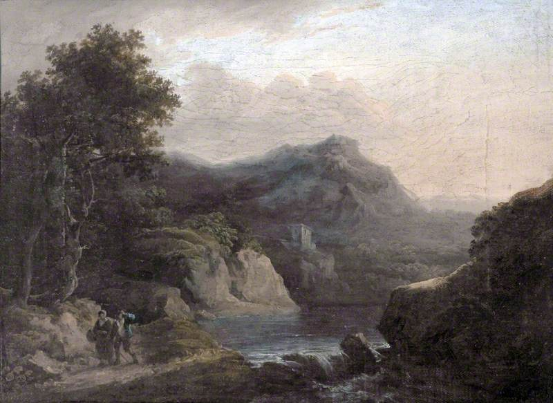 Mountain Scene with a Lake