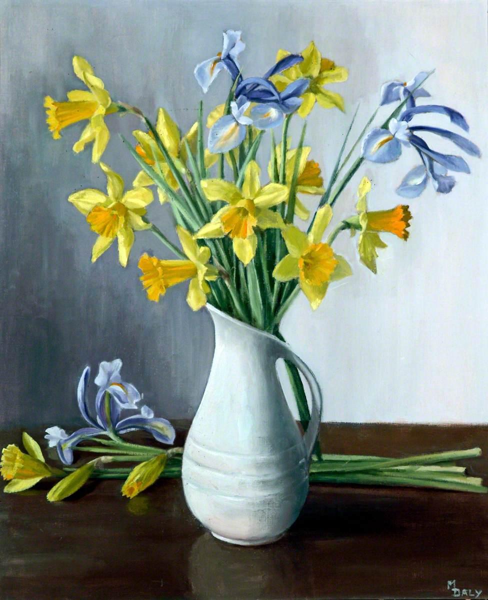 Daffodils and Iris