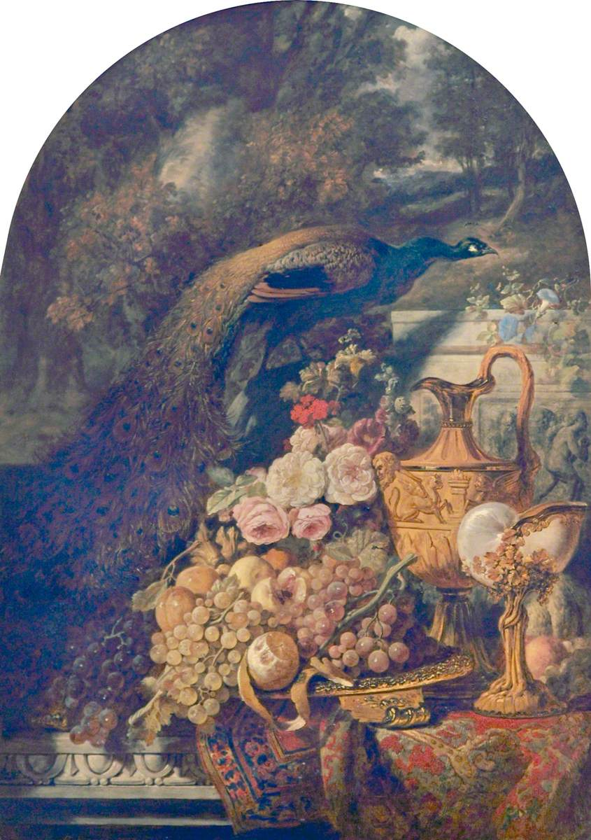 Still Life with a Golden Peacock