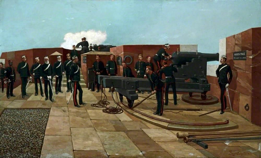 Volunteer Gun Practice, Fort Perch Rock, New Brighton, Wirral