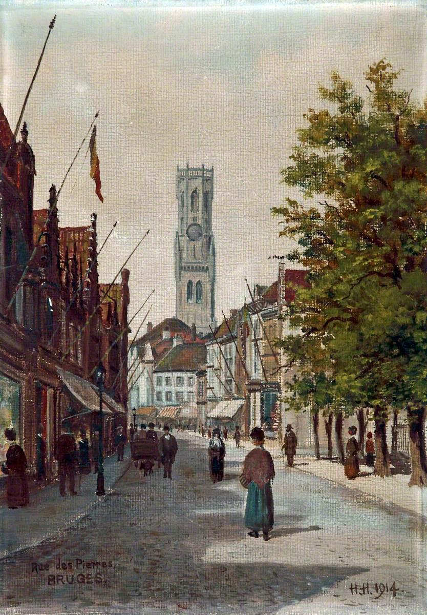 Rue des pierres, Bruges, Belgium