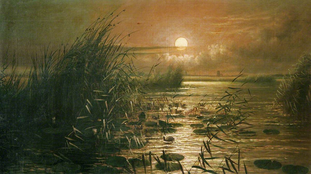 South Walsham Broad by Moonlight (The Long Ripple Washing in the Reeds)