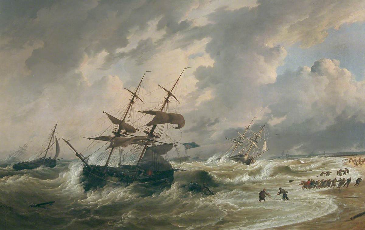 Vessels Stranded on Yarmouth Beach, Norfolk