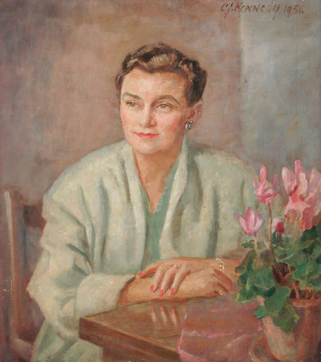 Woman with a Bowl of Cyclamen