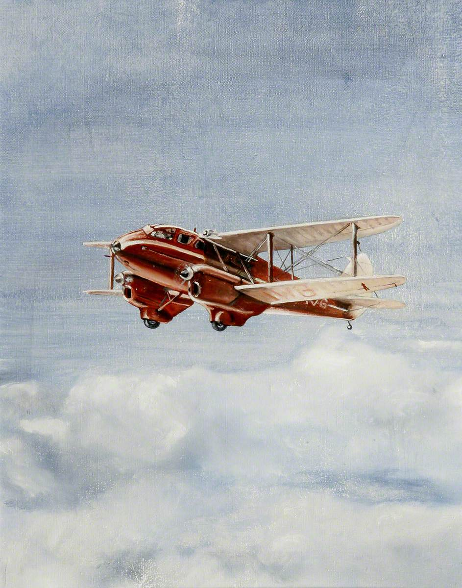 De Havilland Dragon Rapide in Flight