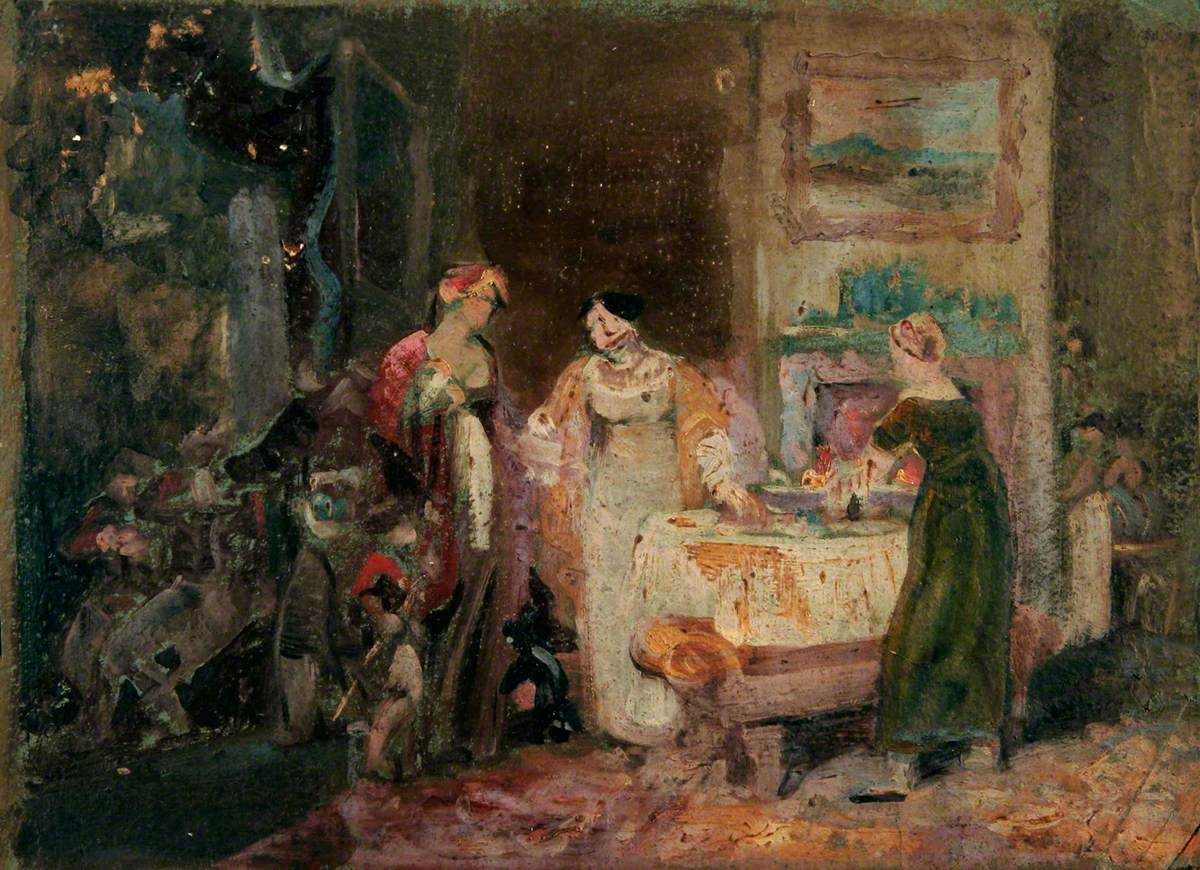 Interior with Women and Children at a Table