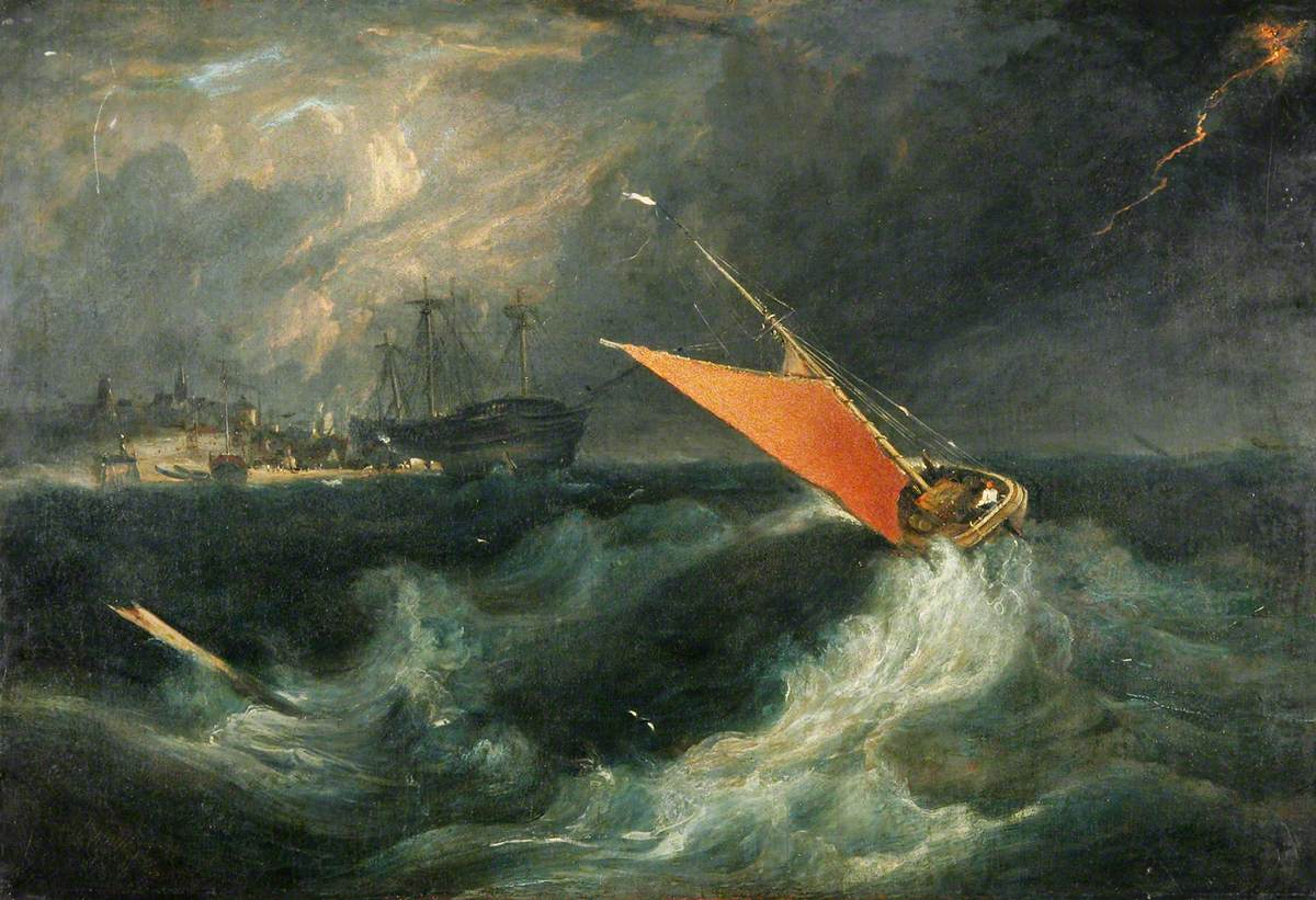 Sailing Boat in a Storm