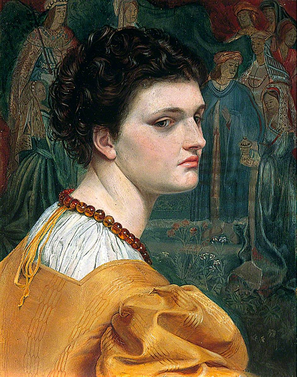 Portrait Study of a Lady in a Yellow Dress