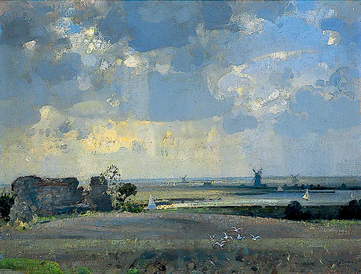 The Marshes from Burgh Castle, Norfolk