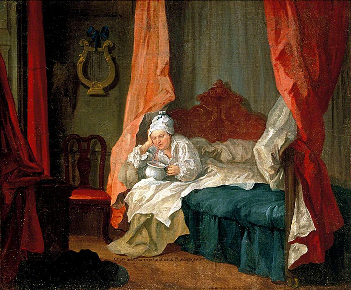 Francis Matthew Schutz in His Bed