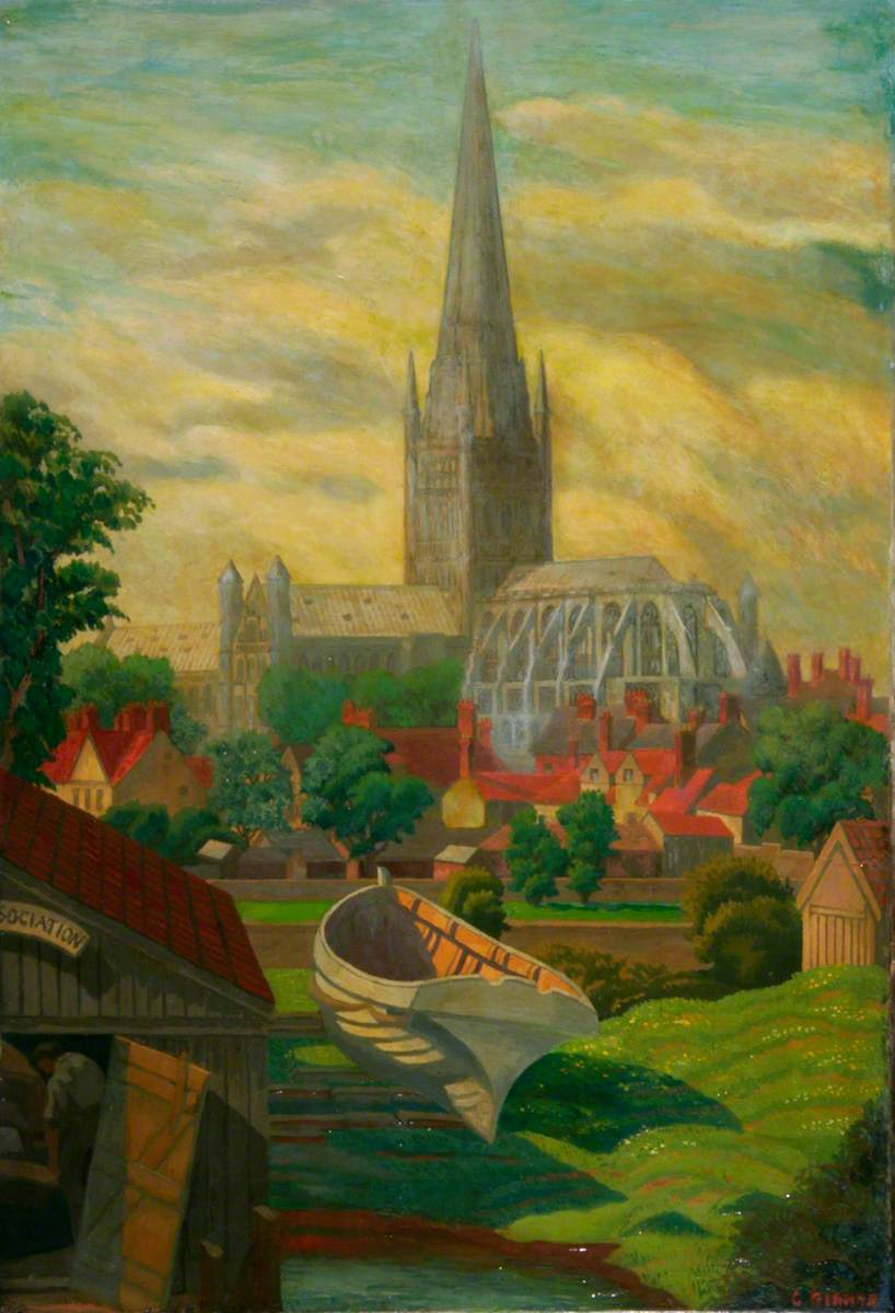Norwich Cathedral from Pull's Ferry, Norfolk