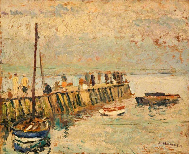 Figures on a Quay, Largo