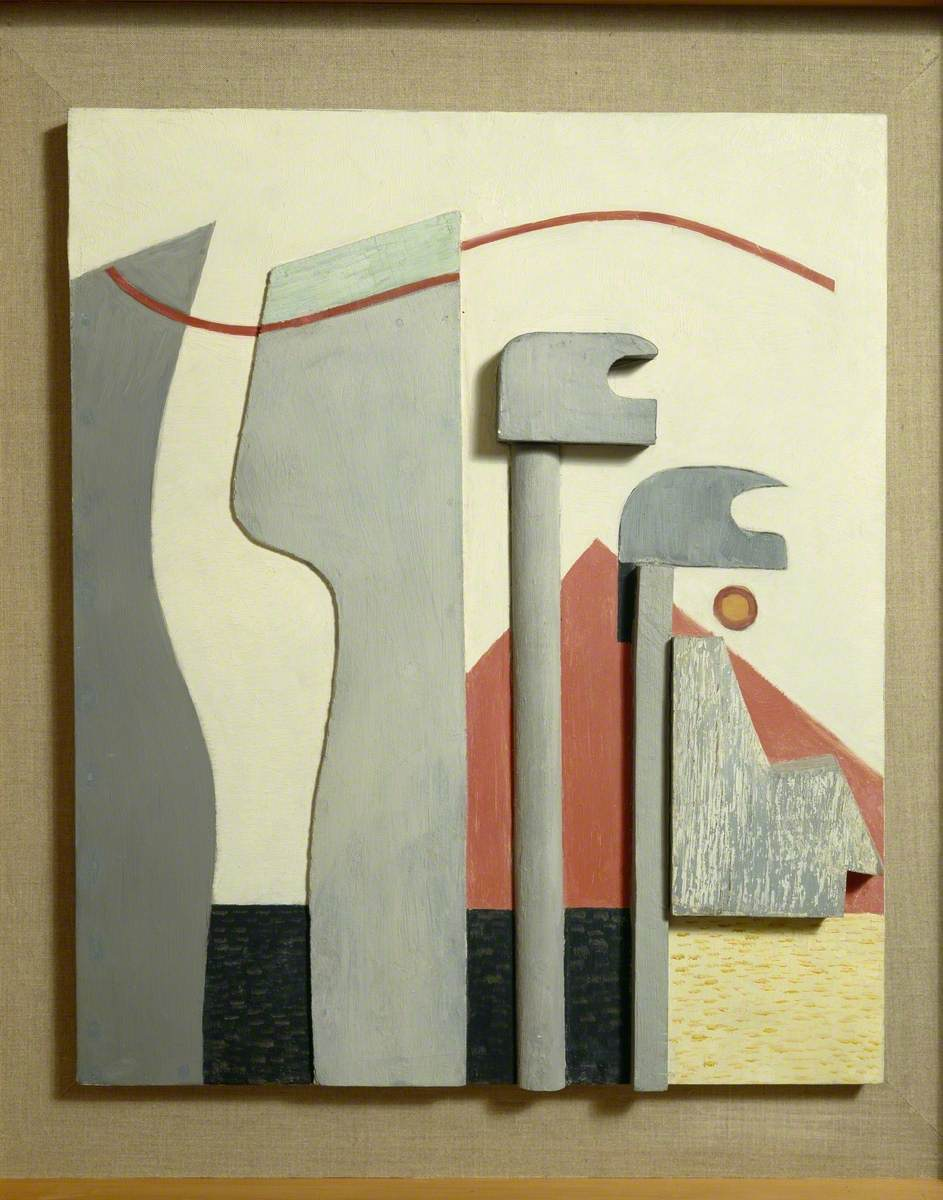 Ohne Titel (Relief mit roter Pyramide) (Untitled, Relief with Red Pyramid)