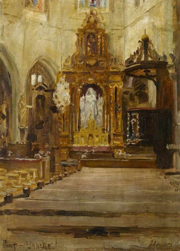 Église Notre Dame des Arts, Pont de l'Arche (View of the Nave Looking Towards the Choir)
