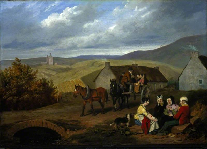 A Scottish Roadside Scene