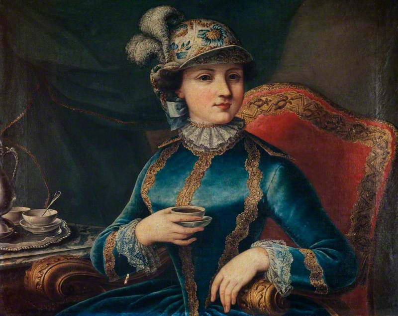 A Girl with a Tea Cup
