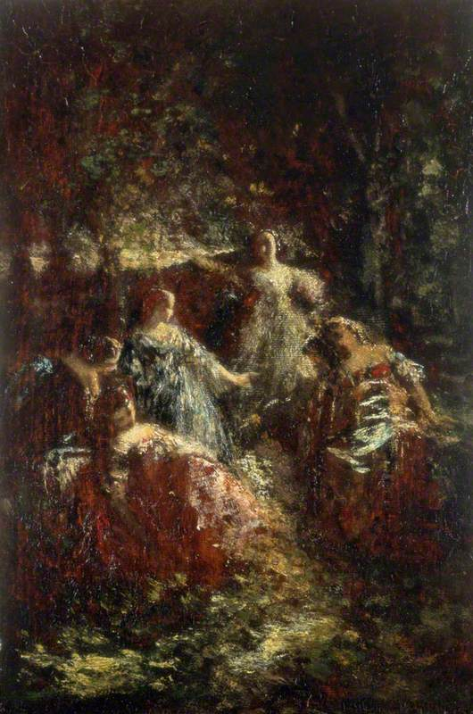 Elegant Ladies in a Forest Clearing | Art UK