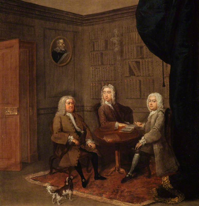 Nicol Graham of Gartmore (1695–1775) and Two Friends Seated in a Library