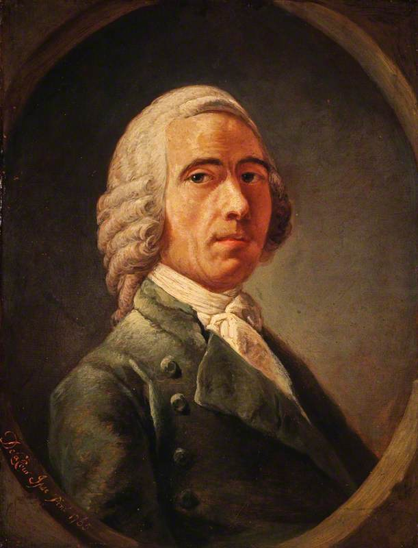 William Delacour (d.1767), First Master of the Trustees' Academy, Self Portrait
