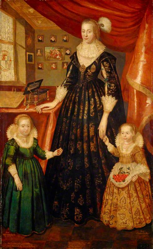 Anne Erskine (d.1640), Countess of Rothes, Wife of the 6th Earl of Rothes, with her Daughters, Lady Margaret Leslie (1621–1688) and Lady Mary Leslie (b.1620)