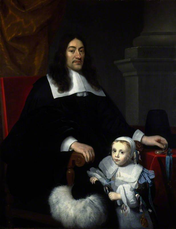 Sir William Davidson of Curriehill (1615/1616–1689), Conservator of the Staple at Veere, with his Son Charles