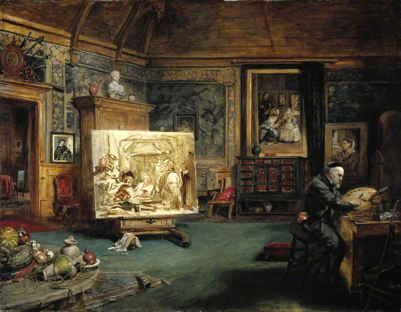 John Phillip (1817–1867), Artist, in his Studio