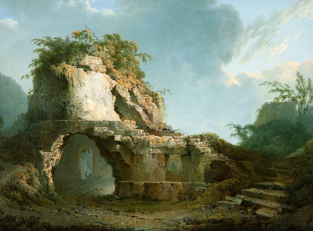 Virgil's Tomb: Sun Breaking through a Cloud