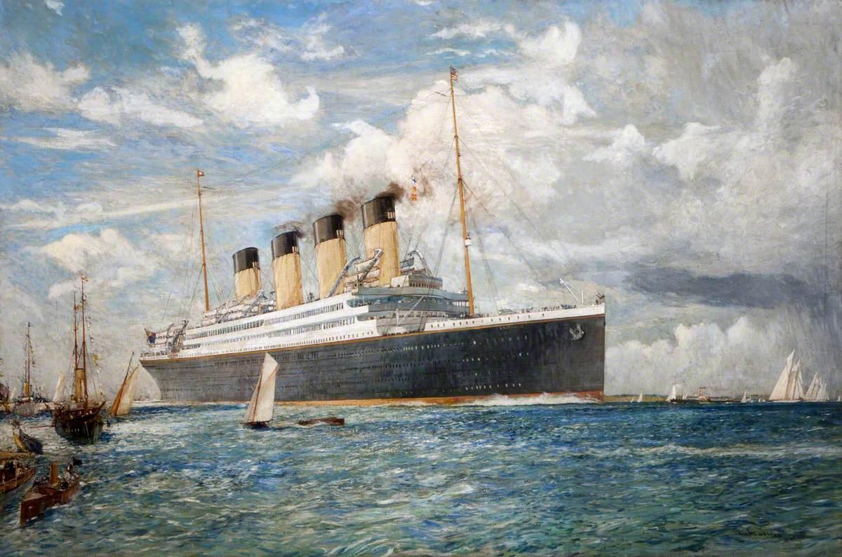 White Star Liner 'Britannic', 1914
