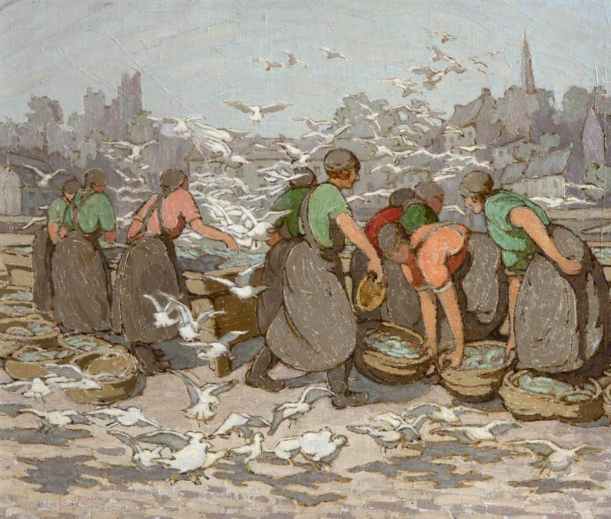 Girls and Gulls at Ardglass