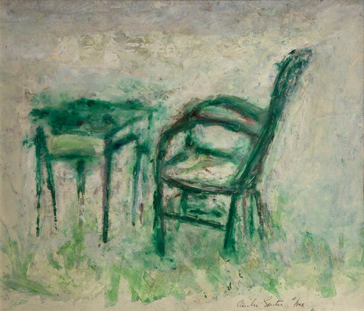 Study of a Desk and Chair