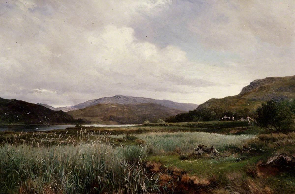 A River Landscape with Reeds, Arthog