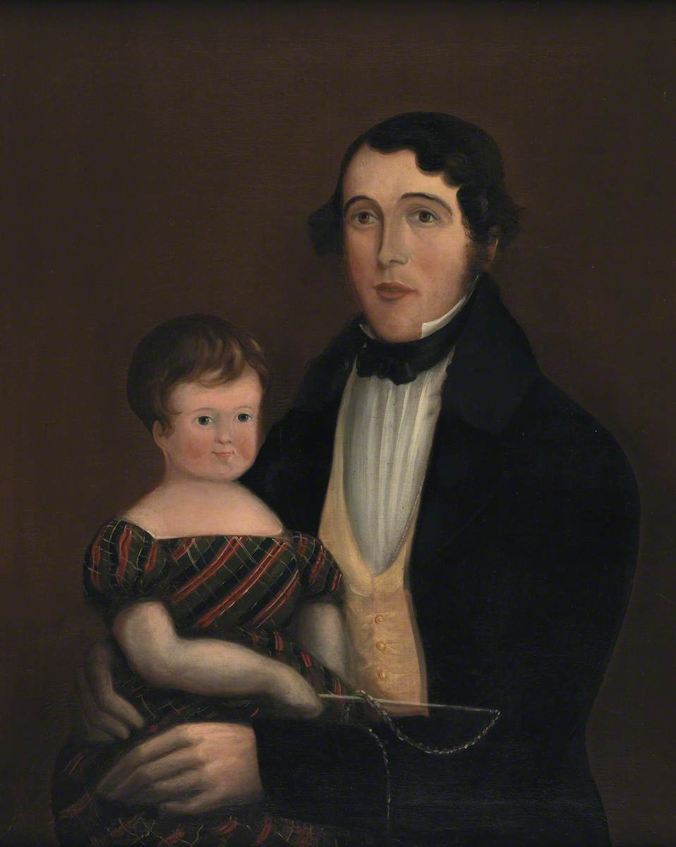Huw Rowlands and His Child