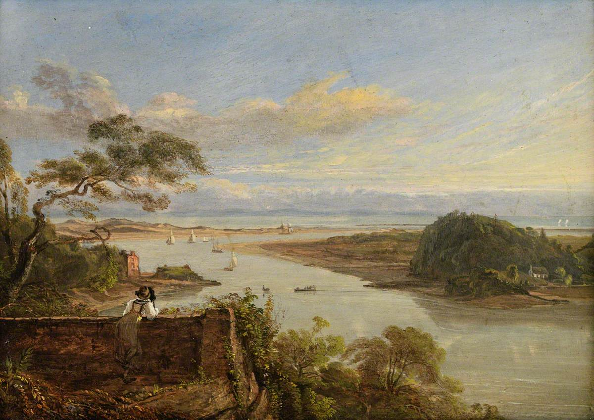 The Mouth of the Neath River from Briton Ferry Grounds, the Seat of the Earl of Jersey