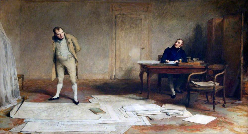 St Helena, 1816: Napoleon Dictating to Count Las Cases the Account of His Campaigns