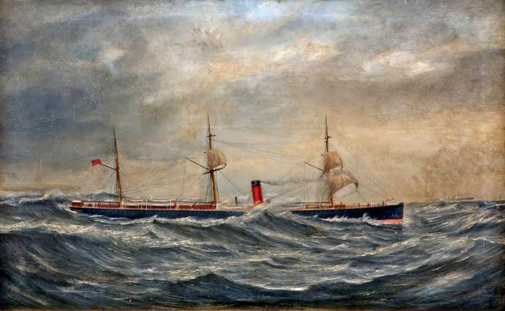 Cunarder in a Storm