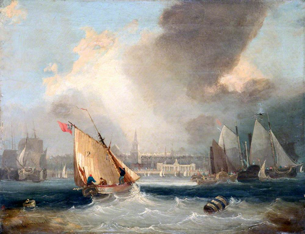 Shipping off George's Baths, Liverpool