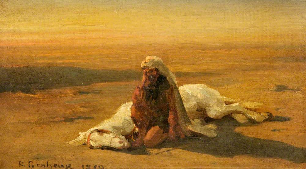 Arab and a Dead Horse