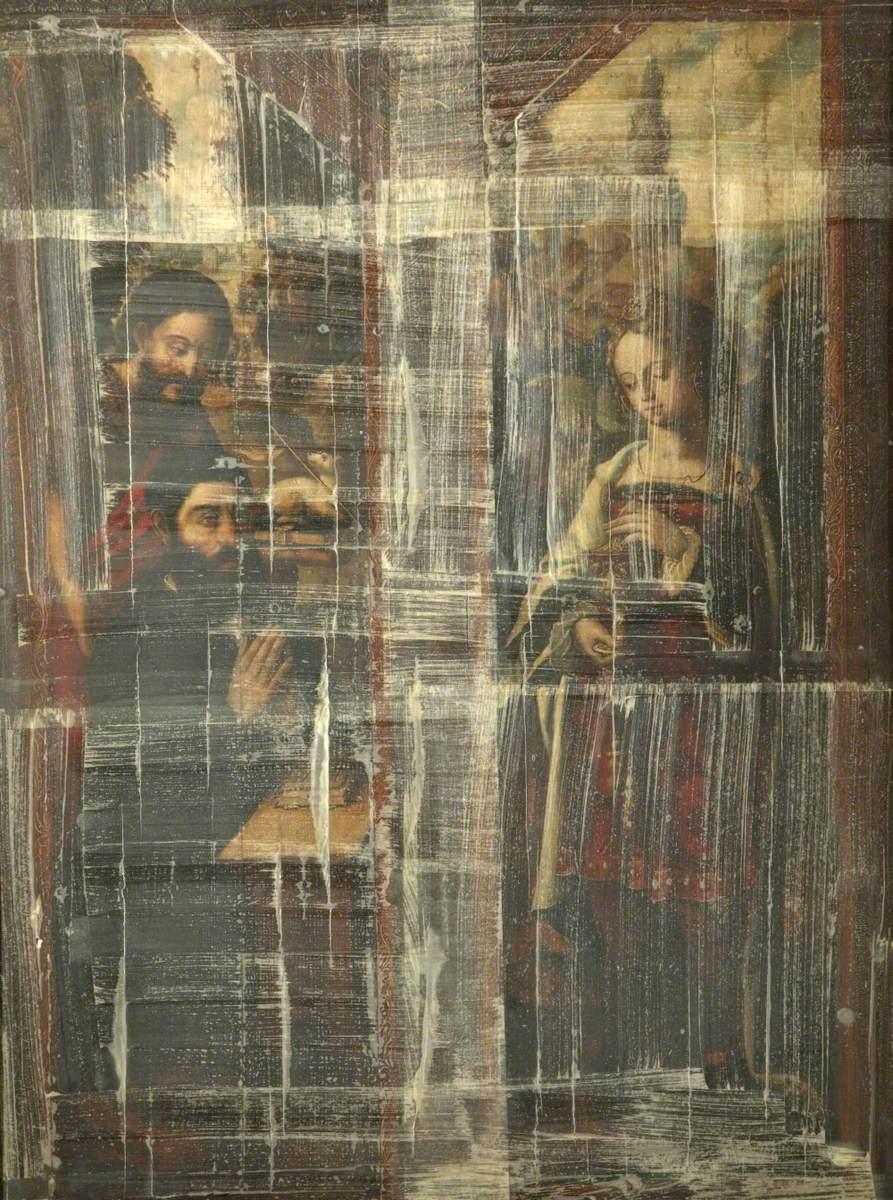 Saint John the Baptist Presenting a Donor and Saint Mary Magdalen