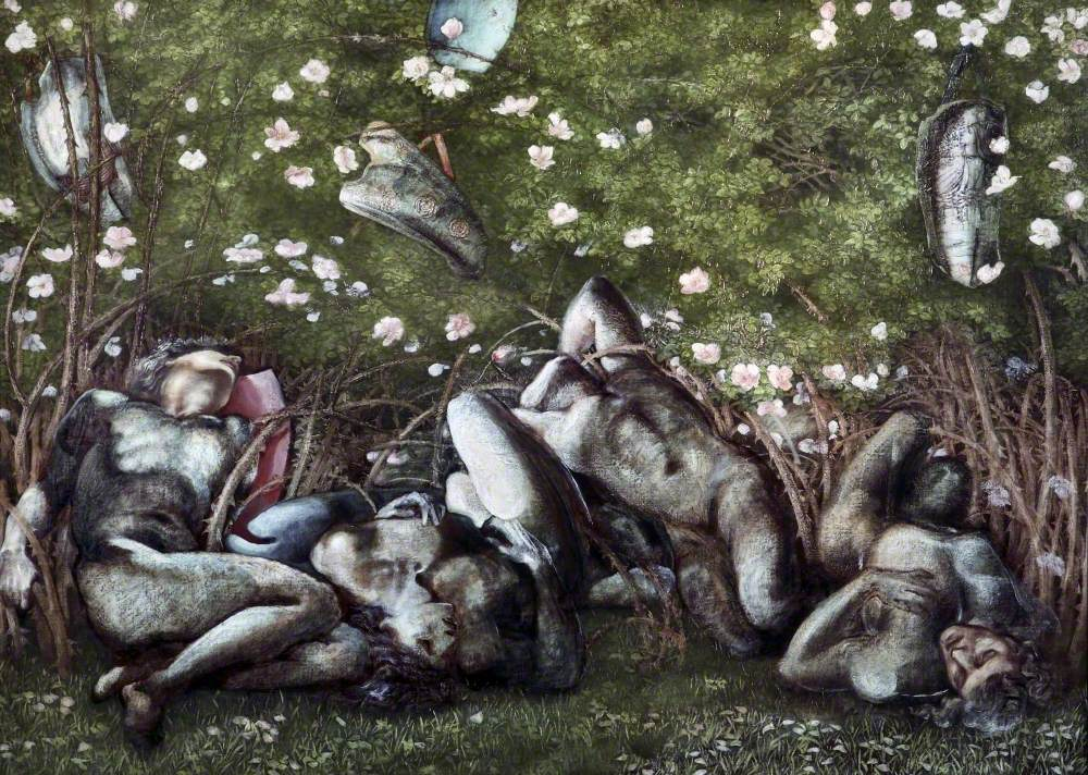 Study for 'The Sleeping Knights'