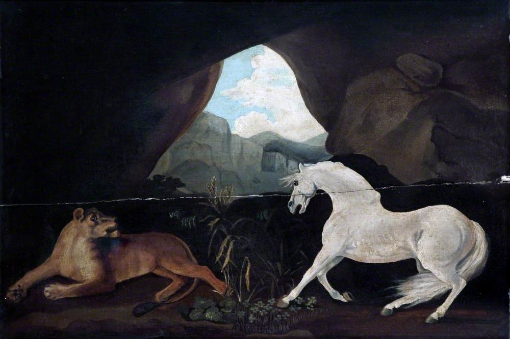 Horse and Lioness