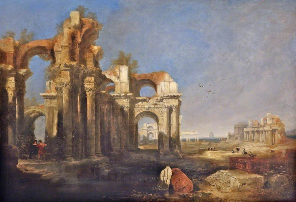 Ruins of a Temple and an Amphitheatre