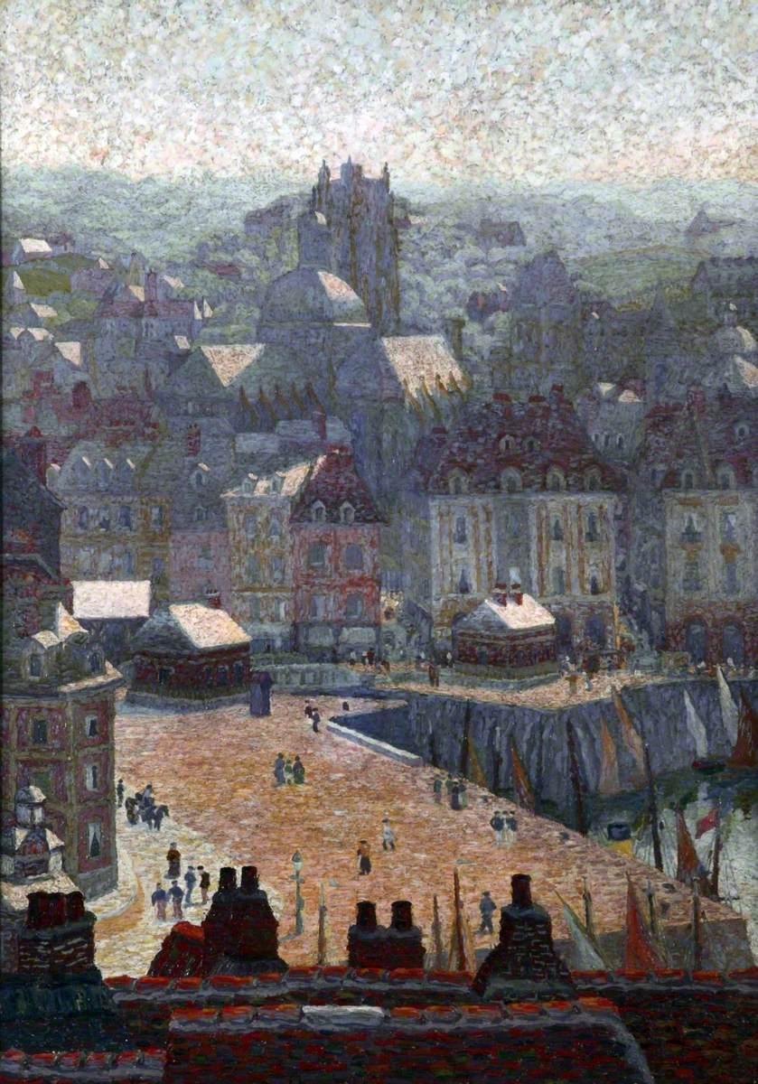 Le quai ensoleillé, Dieppe