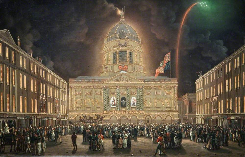 Liverpool Town Hall Illuminated, 1806