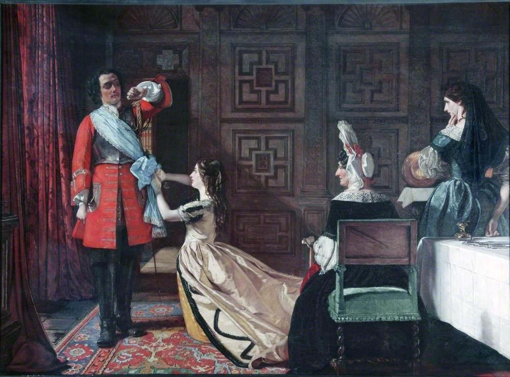 Esmond Returns after the Battle of Wynendael, Scene from William Thackeray's 'History of Henry Esmond, Esq.'
