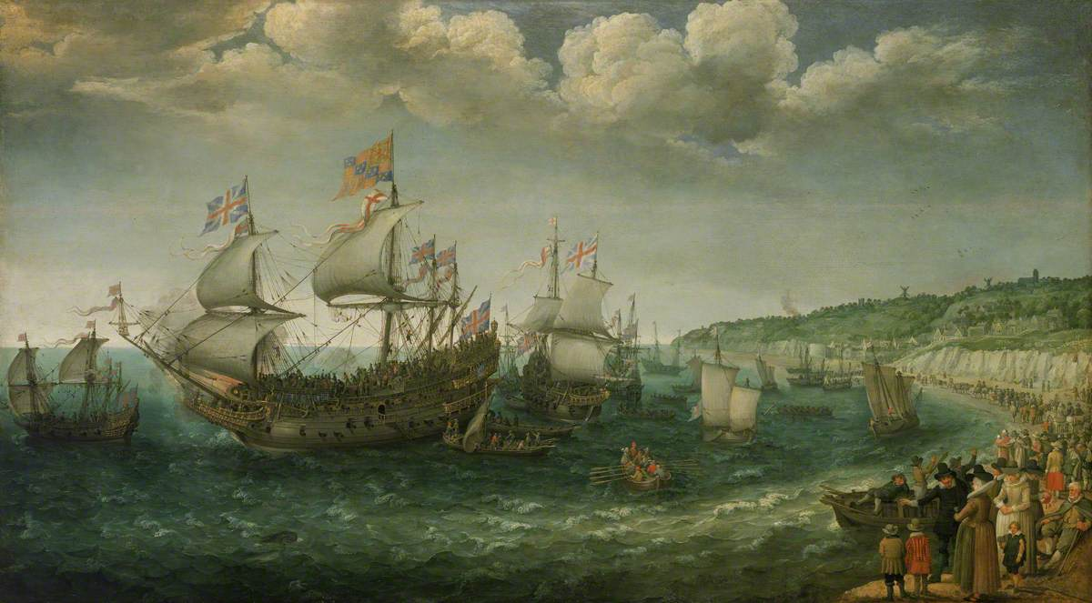 Embarkation of the Elector Palatine in the 'Prince Royal' at Dover, 25 April 1613