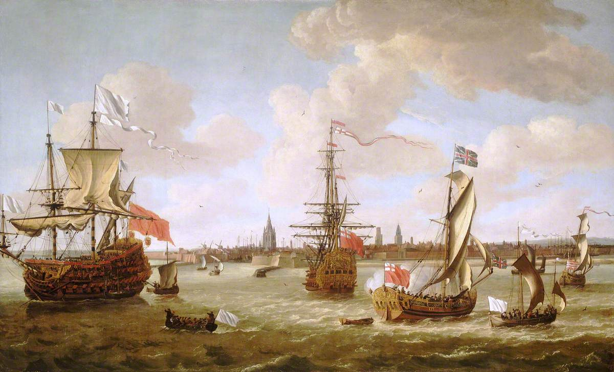 Mary of Modena (1658–1718) Leaving Calais, 21 November 1673