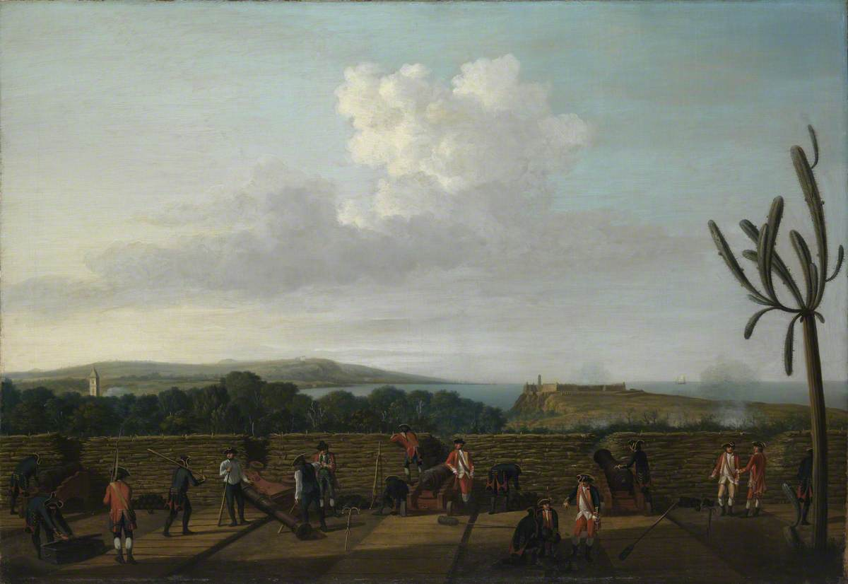 The Capture of Havana, 1762: The English Battery before Morro Castle