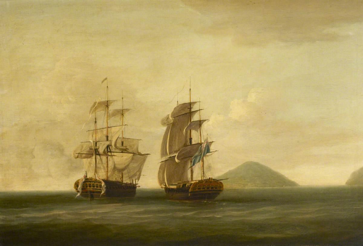 HMS 'Pearl' Capturing the 'Esperance', 30 September 1780