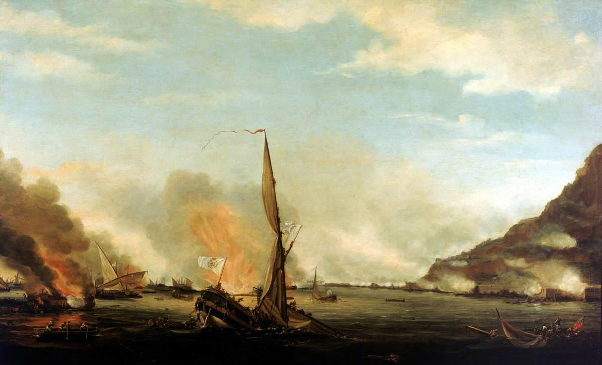 Destruction of the Floating Batteries at Gibraltar, 14 September 1782