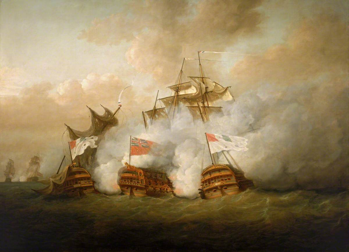 The 'Brunswick' and the 'Vengeur du Peuple' at the Battle of the First of June, 1794